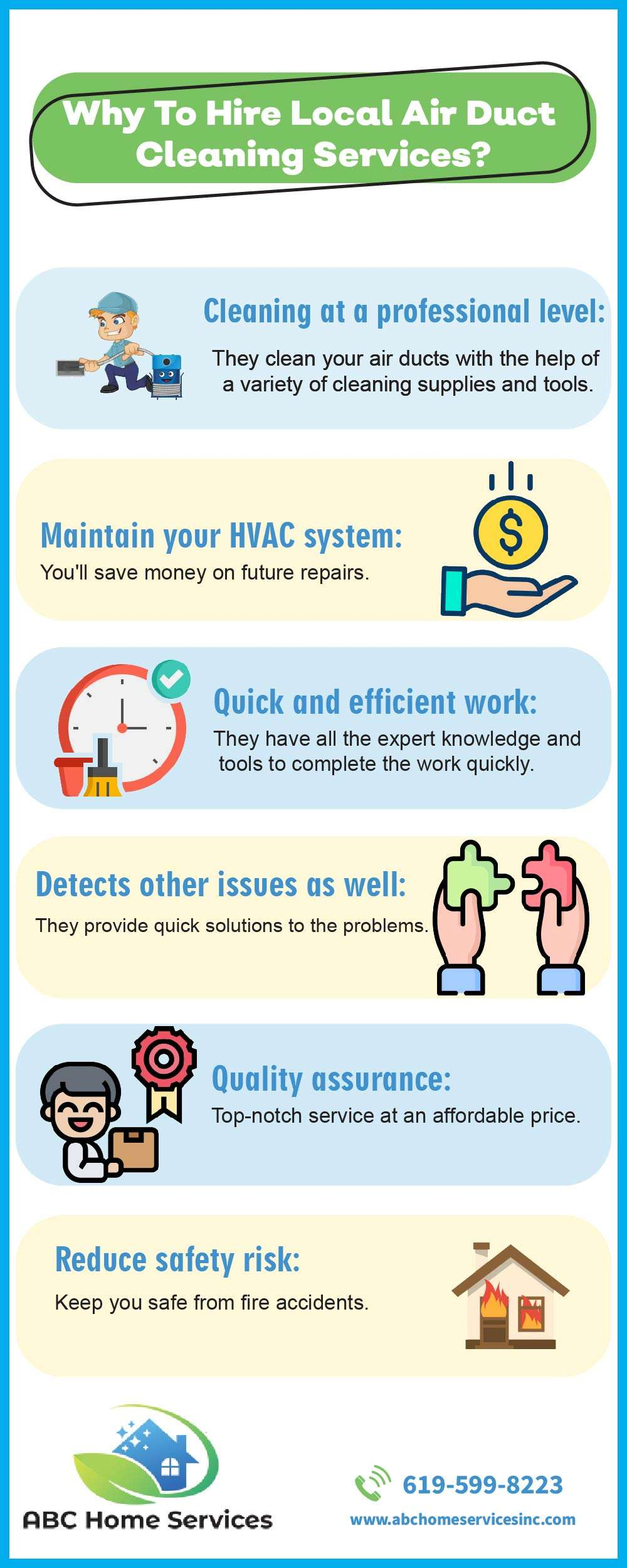 Why To Hire Local Air Duct Cleaning Services [Infographic]